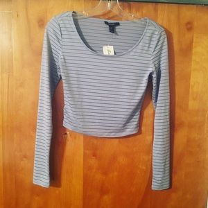 4/$25 Forever 21 Gray Crop Top NWT